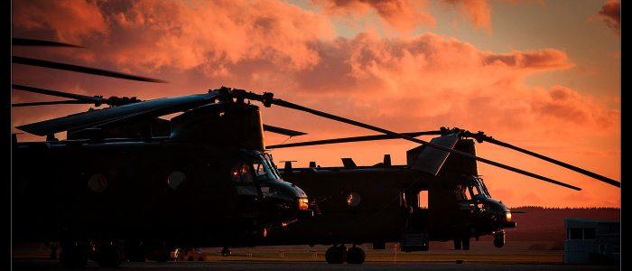 Chinooks at Sunset
