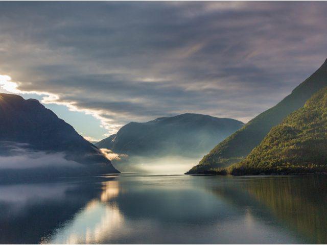 Dawn on a Fjord